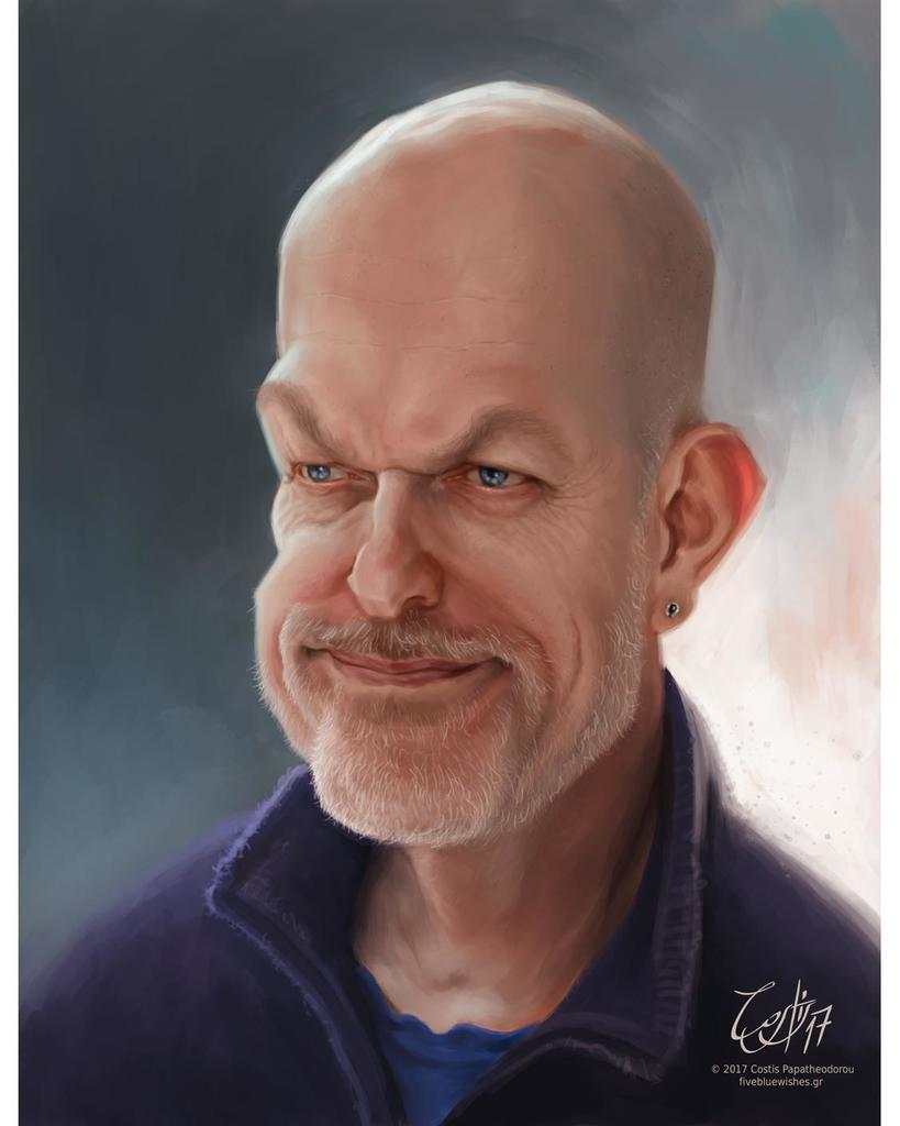 Caricature of my by the talented Costis Papatheodorou. Check out his work at @5bluewishes #art #artist #artwork #a…  http:// ift.tt/2qYY7sL  &nbsp;  <br>http://pic.twitter.com/j1aMmy8ao2