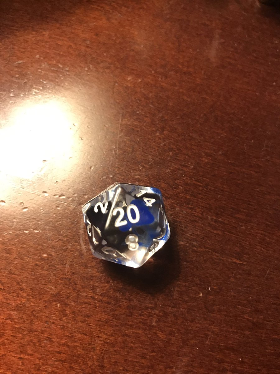 I&#39;m the d20 that rolled EIGHT nat 20s in tonight&#39;s session!!! I&#39;m still a little shocked. #dnd #rpg #dice #Barovia<br>http://pic.twitter.com/dVp3XCt3xY