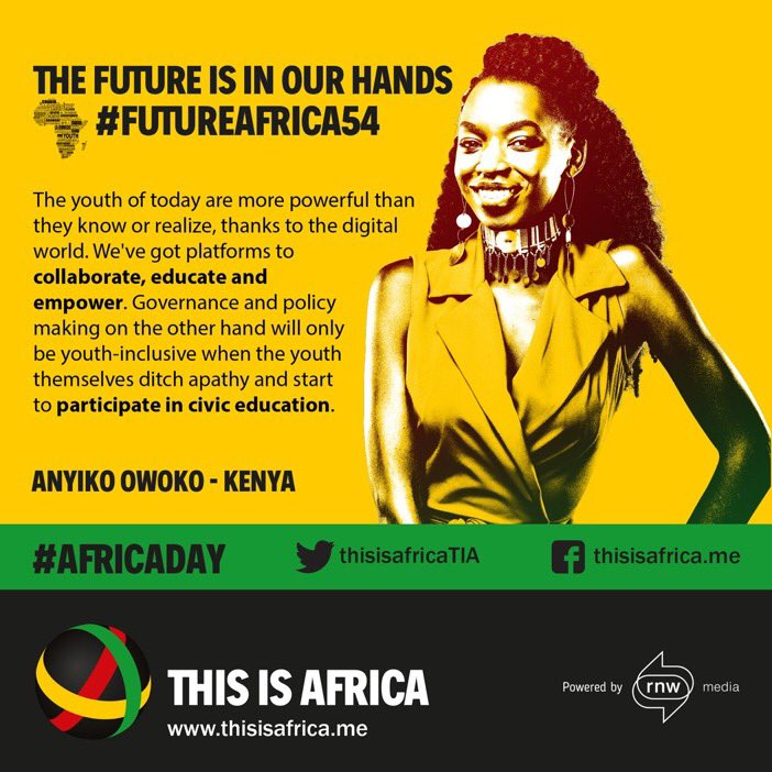 Happy Africa Day 2017! The future is in our hands, so let's take control! #FutureAfrica54 cc: @ThisIsAfricaTIA https://t.co/mRW7raZPNW