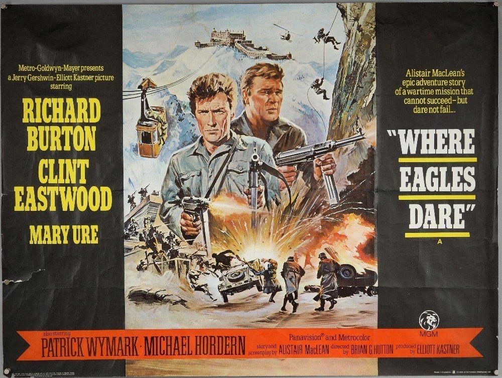 Lot 2010: Where Eagles Dare (1969) film poster, War starring #Clint Eastwood, such a timeless film @EwbankAuctions  http:// bit.ly/2qPpDrW  &nbsp;  <br>http://pic.twitter.com/7DKARVTRcV