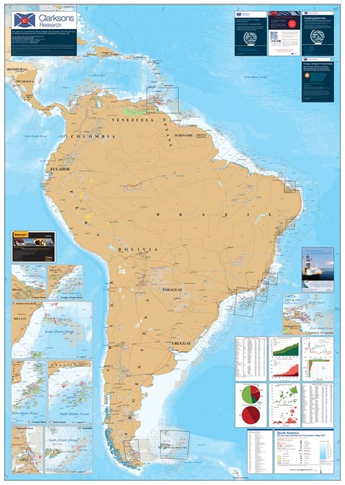 Map Of South America 2017.Clarksons Research On Twitter The South America Map 2017 Is Now