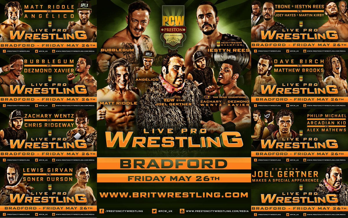 #RT #Competition #Share for a chance to win tickets!  TOMORROW IN #BRADFORD FULL CARD IS STACKED! ORDER TICKETS FROM  http://www. britwrestling.com  &nbsp;  <br>http://pic.twitter.com/TtbCG8Mfxu