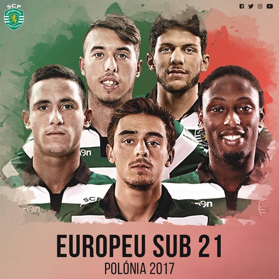 F. Geraldes, Iuri, Tobias Figueiredo, Rúben Semedo e Podence vão representar a @selecaoportugal no Euro Sub-21! #FormaçãoSCP