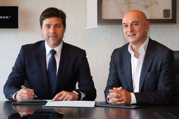 """Daniel Levy on manager Mauricio Pochettino:  """"I am sure he is not going anywhere. He loves us."""" ... #COYS  #THFC<br>http://pic.twitter.com/NwNUU8i5sB"""