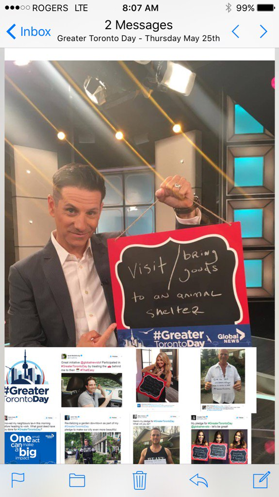 Today is #greatertorontoday - get out there and continue to help make...