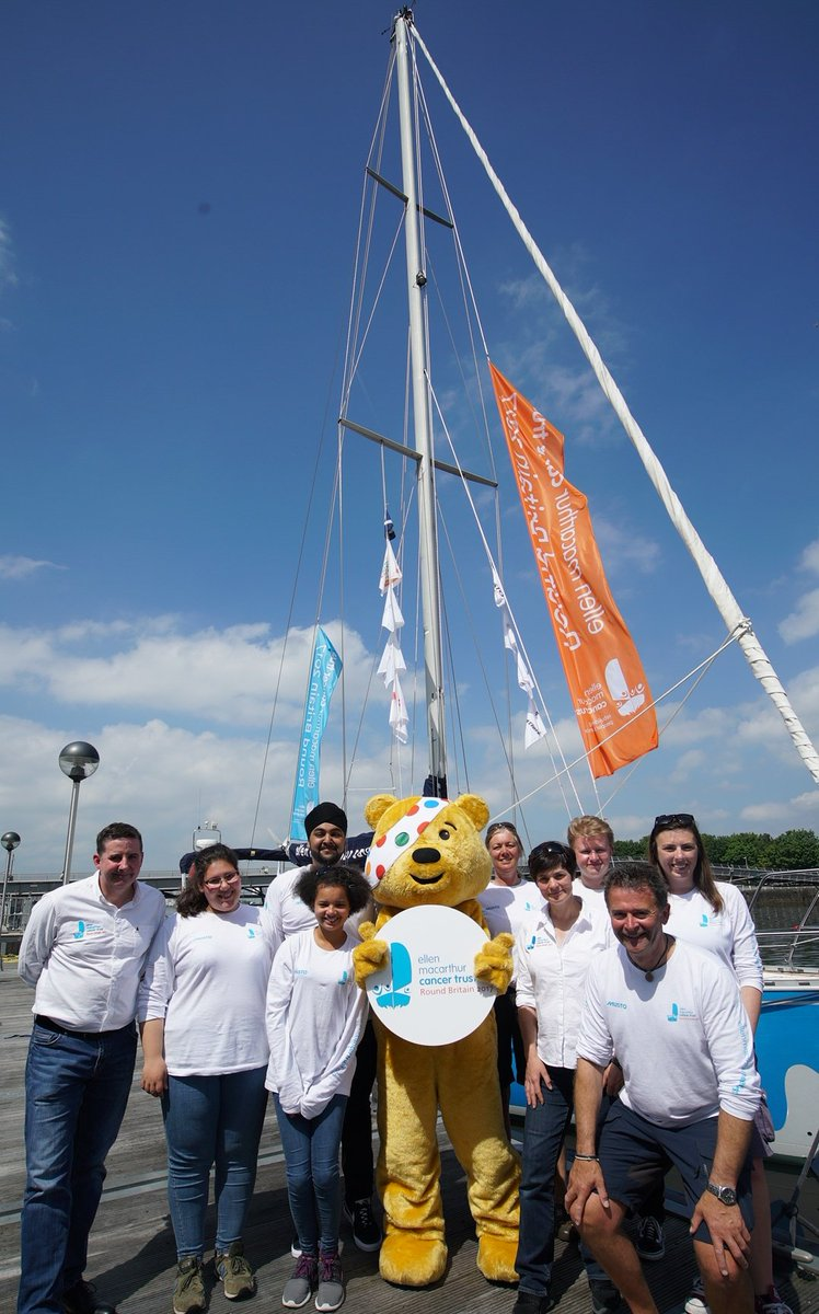 New recruit for the #emctrust #RoundBritain2017 crew! Great to have @BBCCiN #Pudsy come & visit! #Tell9People