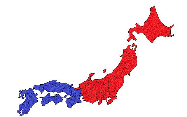 カールが買えなくなるのは赤の地域 青の地域は今後も販売を継続 #中部以東