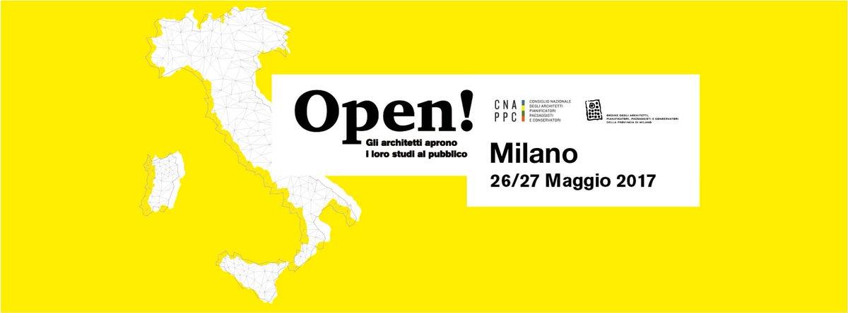 Più di 600 #StudiAperti in tutta Italia (a Milano sono 64) per avvicinare #architetti e cittadini e spiegare l'importanza dell'#architettura