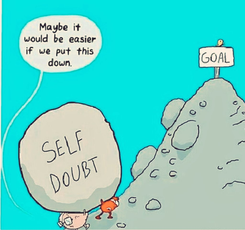 Maybe it would be easier if we put this down. 90% people bearing This. #selfdoubt #thursdaymotivation #mindfulness #befree #selfconfidence <br>http://pic.twitter.com/SSumYwvrBU