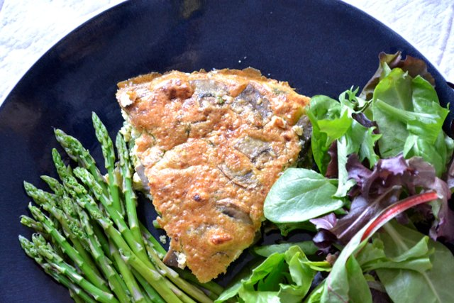Asparagus & Mushroom Frittata