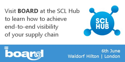 Looking forward to the @SclHub on the 6th June. Come and visit @BOARD_UK to learn how to achieve end-to-end #supplychain #visibility <br>http://pic.twitter.com/gTifRaCvTQ