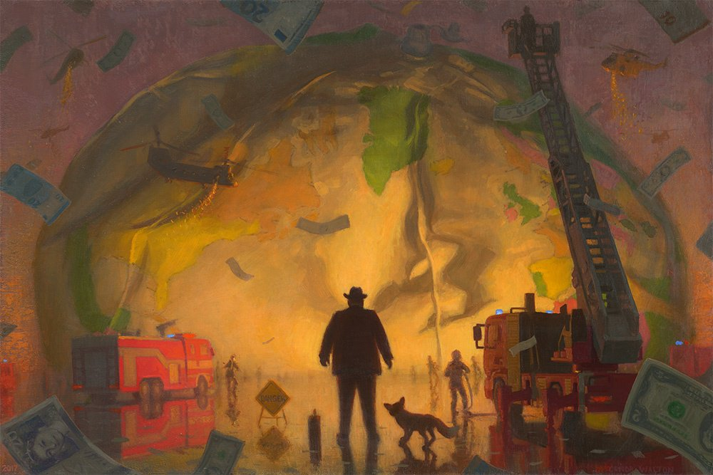 The Dream of the Central Banker - https://t.co/by2Z2Mcbrj  #Art #Artist #Painting #Politics #Econ #Nature #Truth