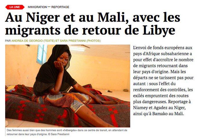 Au Niger et au Mali, avec les migrants de retour de Libye. https://t.co/TkrDv6bssp