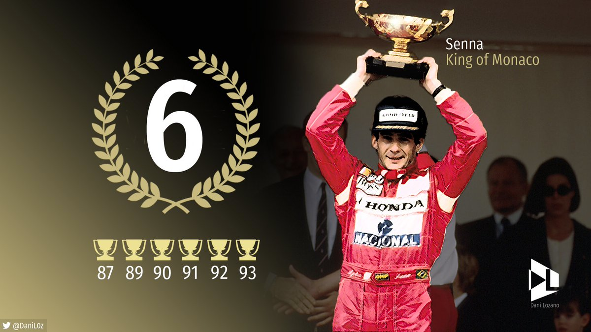 #Numbers Senna | King in Monaco  #MonacoGP<br>http://pic.twitter.com/wGTThAApEq