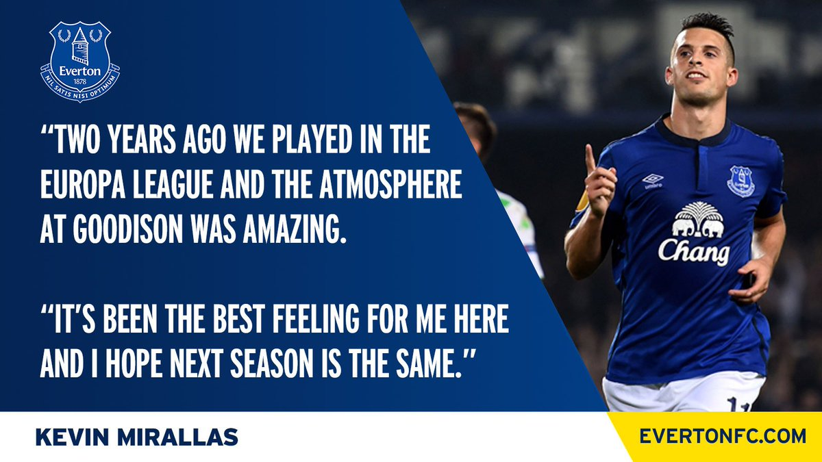 | Kevin Mirallas' is looking forward to European nights under the lights at Goodison once again. #EFC     http:// bit.ly/2rXSckC  &nbsp;  <br>http://pic.twitter.com/Ul6ctLfRqy