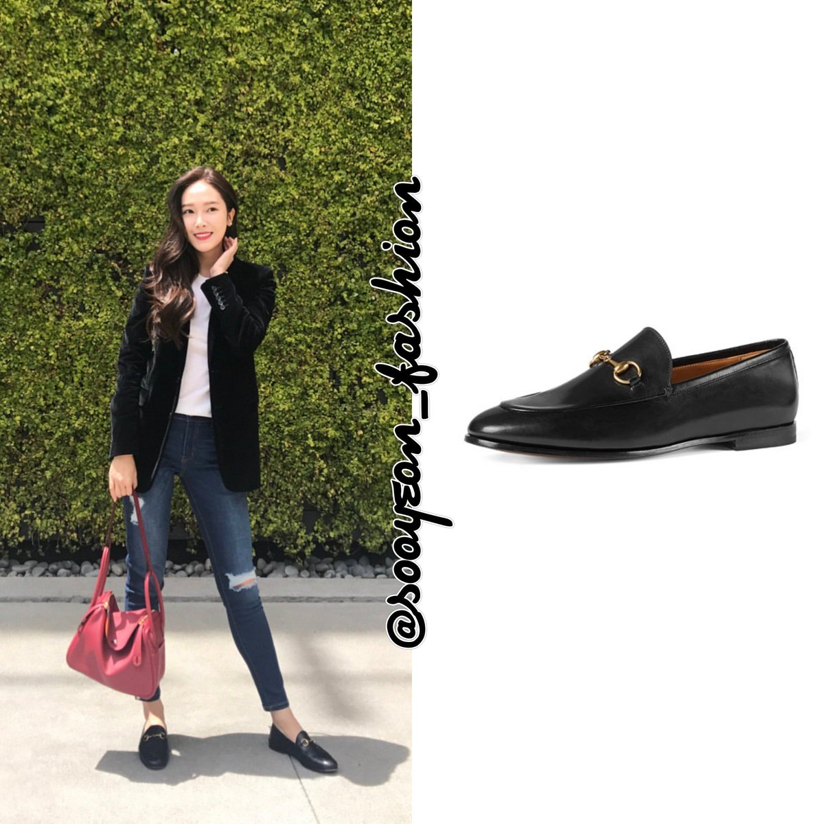 f678b0dd9 ... Leather Loafer (Black), $695 https://www.gucci.com/us/en/pr/women/womens -shoes/womens-moccasins-loafers/gucci-jordaan-leather-loafer-p-404069BLM001000  …