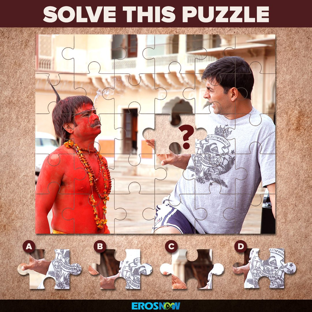 Find the missing piece to get out of this Bhool Bhulaiyaa!   @akshaykumar @rajpalofficial #TrickyThursday <br>http://pic.twitter.com/z80a8UYeuB