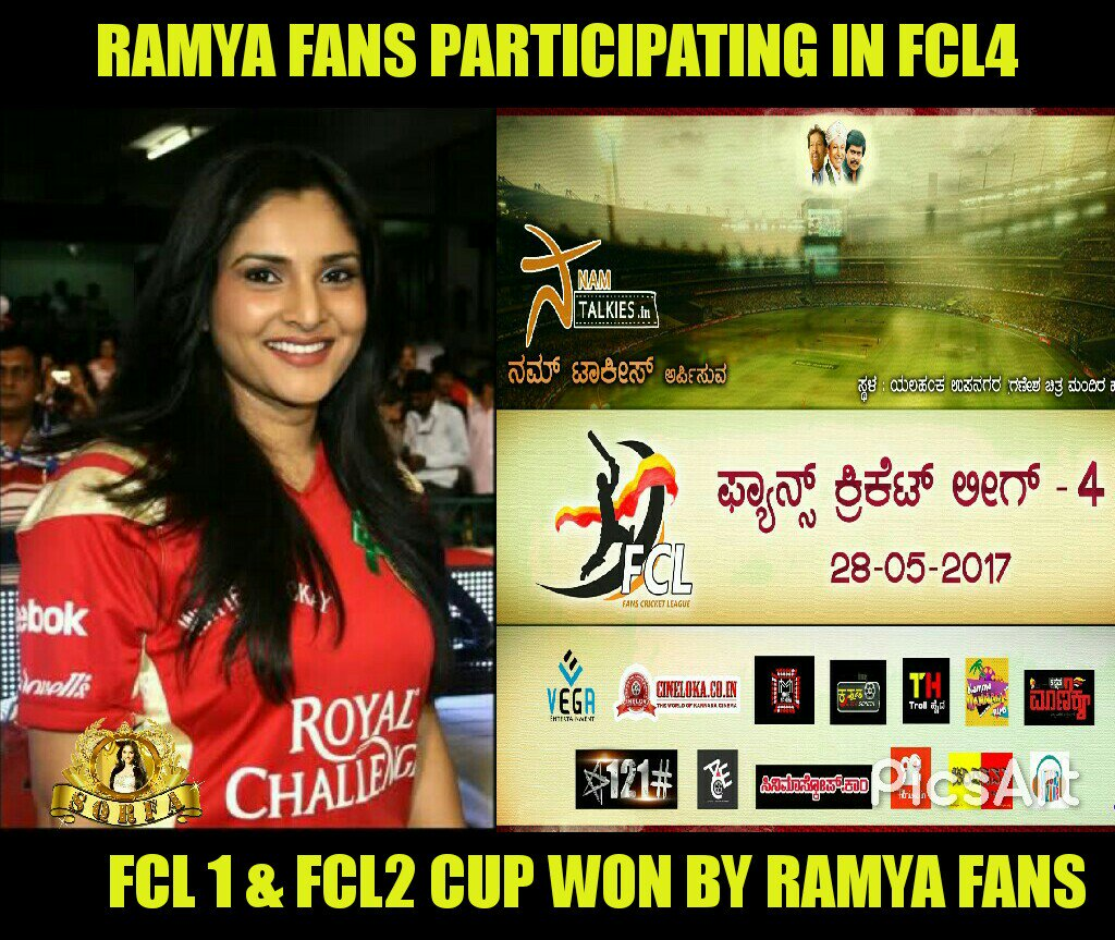 Hi all @divyaspandana fans participating in #FansCricketLeague4   Need all ur support  #SQRFA #FCL #MAY28TH @namtalkies<br>http://pic.twitter.com/pQk3nfXX6l