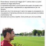 RT @Sabatini: #Totti smette con la @OfficialASRoma...