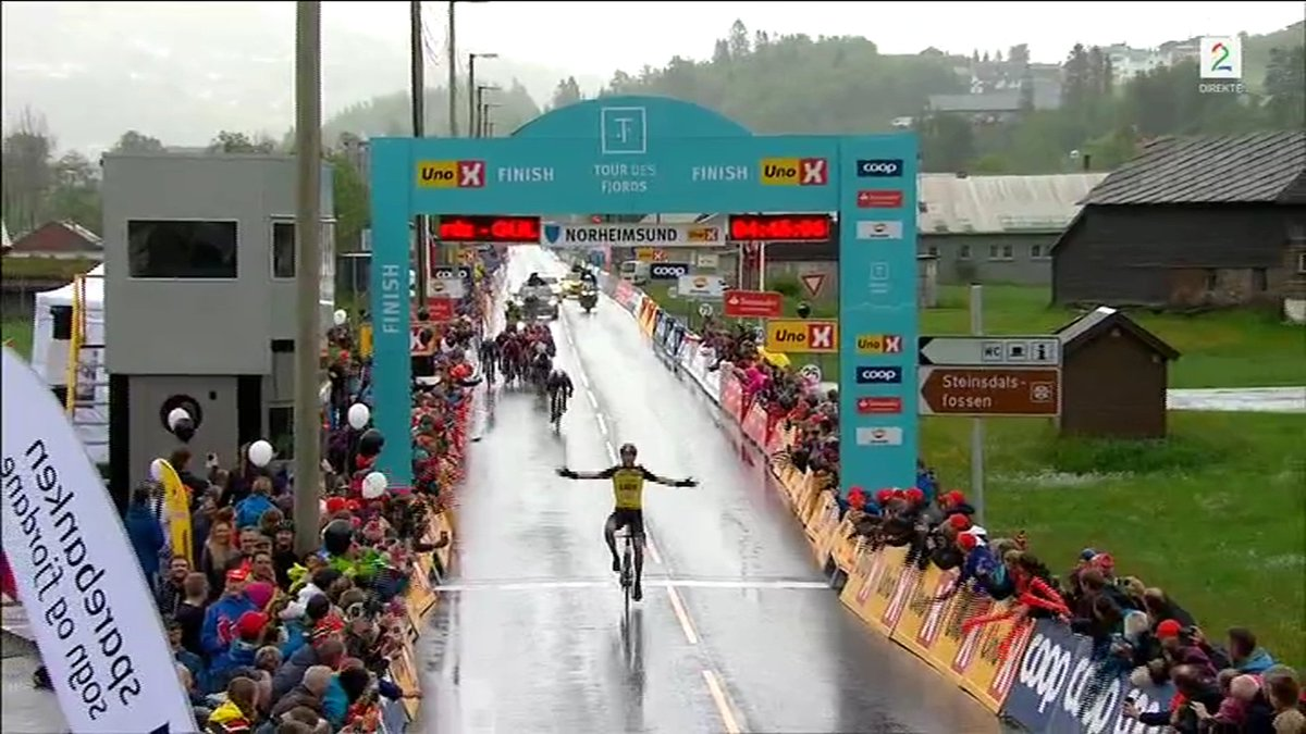 Timo Roosen @LottoJumbo_road is stage winner in #TourDesFjords Great Solo win... #Cycling #Ciclismo #Cyclisme #Wielrennen<br>http://pic.twitter.com/00ENFu7j9K