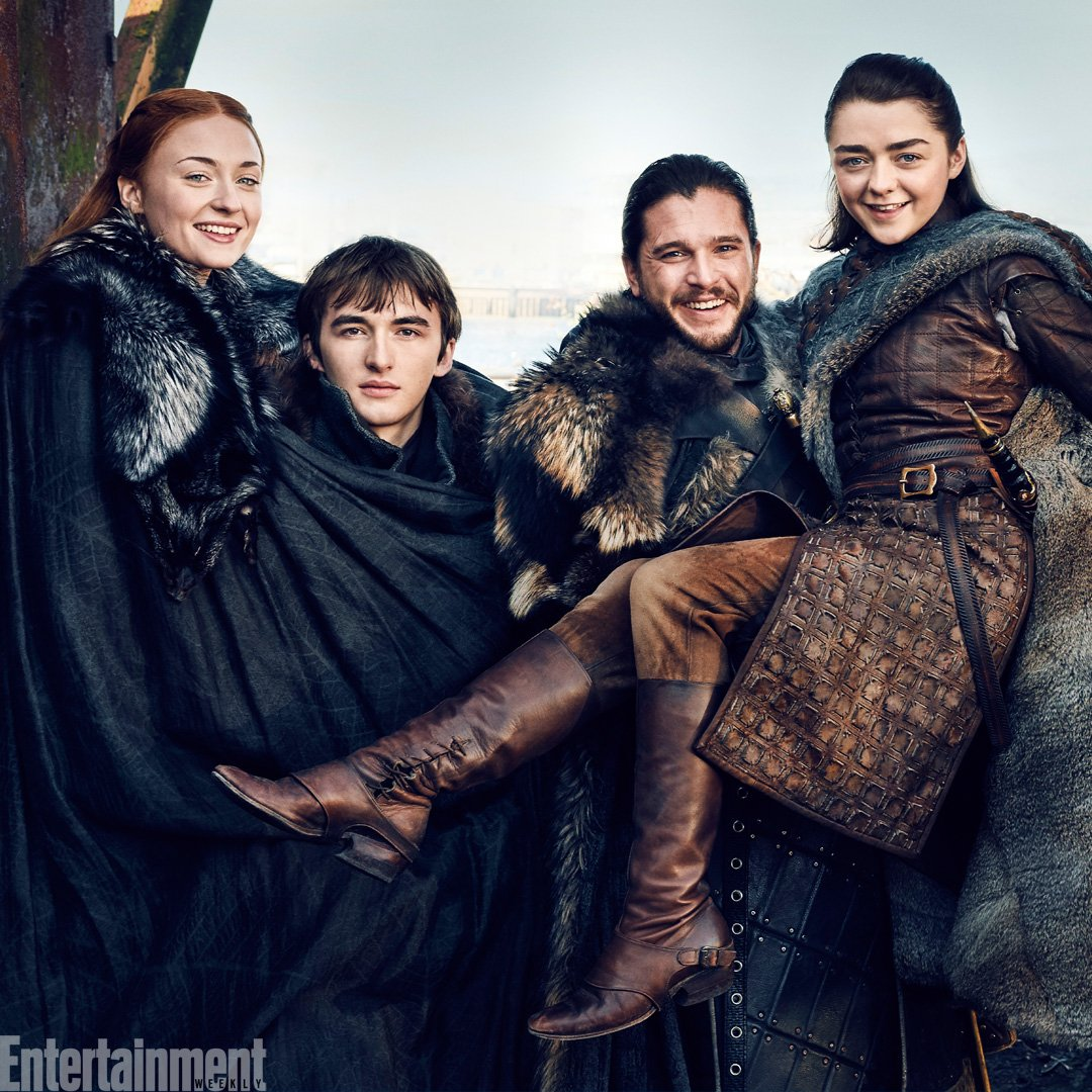 Long live the Starks! We've reunited Jon, Sansa, Arya and Bran for our #GameOfThrones covers this week: https://t.co/Wqk8xvjesu