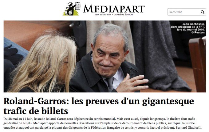 Roland-Garros: les preuves d'un gigantesque trafic de billets. https://t.co/kpoBsxPx2e