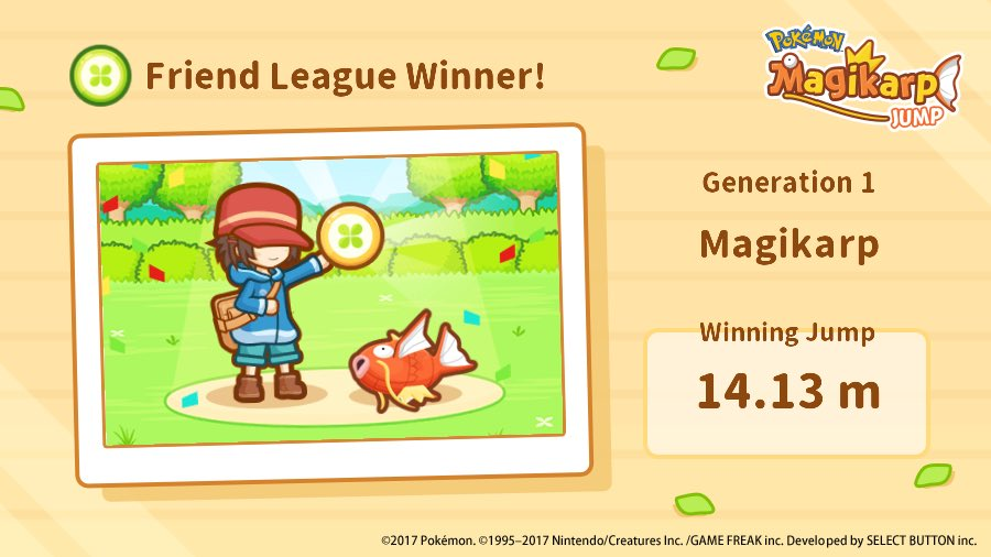 Awe this game is SO cute! I just won the first league. #MagikarpJump h...