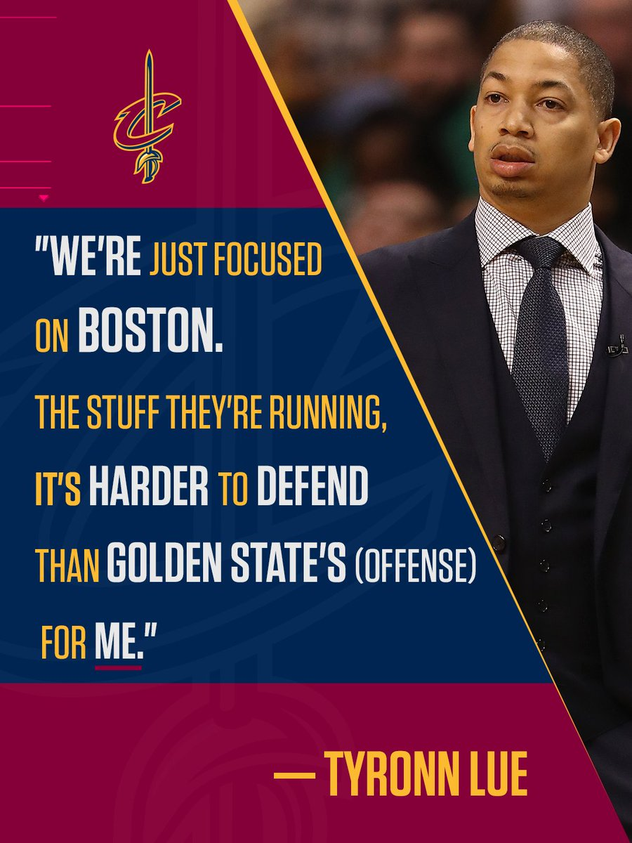 Tyronn Lue says the Cavs aren't looking ahead to the Finals yet.