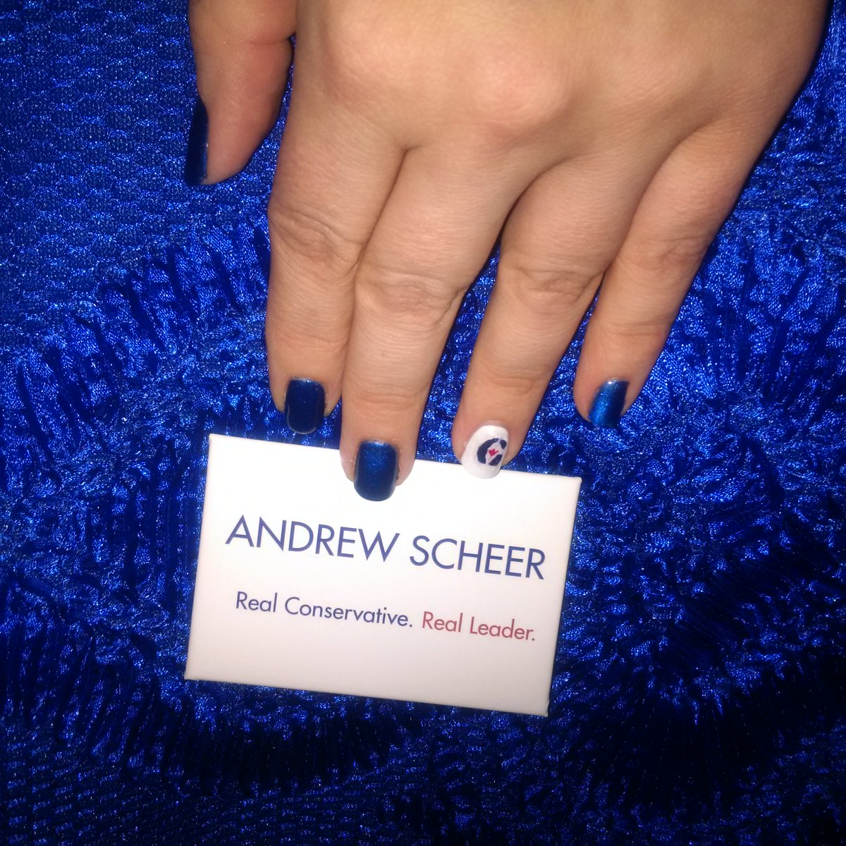 On my way to #CPCLdr convention to cheer on @andrewscheer! My nails sh...