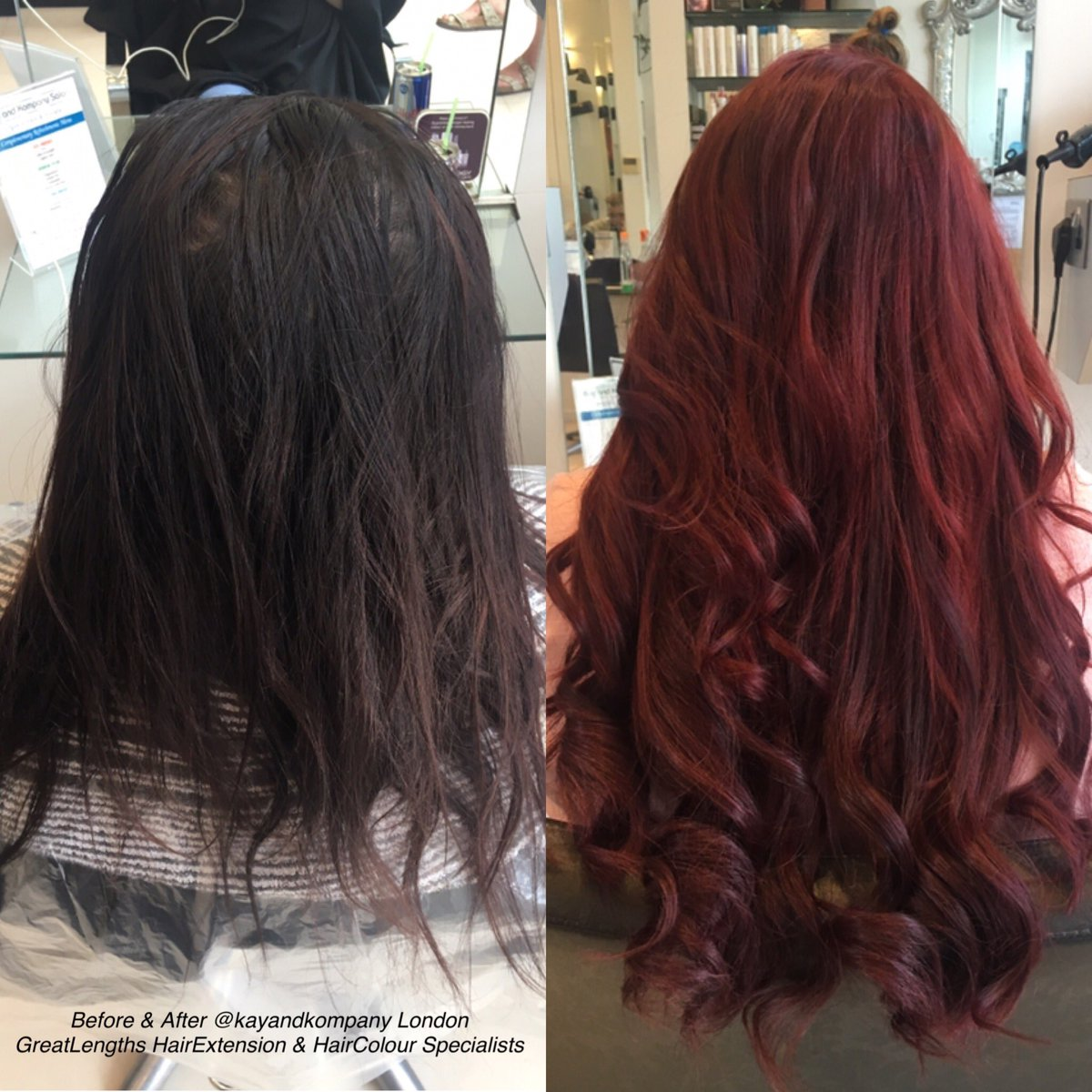 Wow! Insane transformation by our Lauren @ #kayandkompany  #hair was colour-corrected to match #hairextensions  #greatlengths #newhair #n10<br>http://pic.twitter.com/joN4A6Wghk