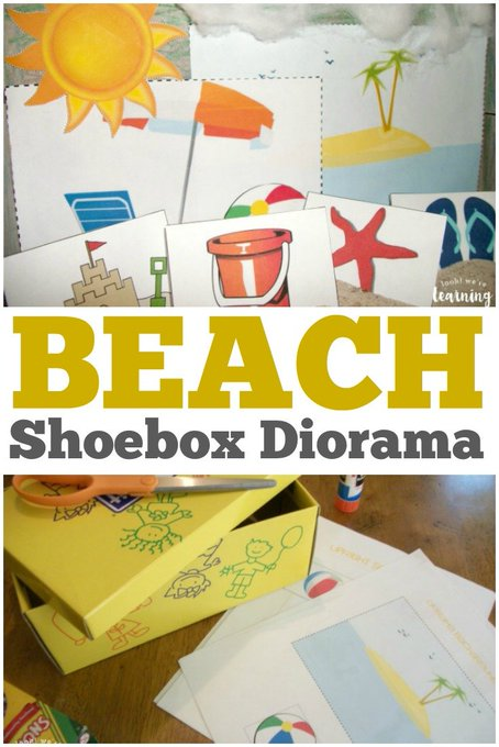 Beach Shoebox Diorama Craft