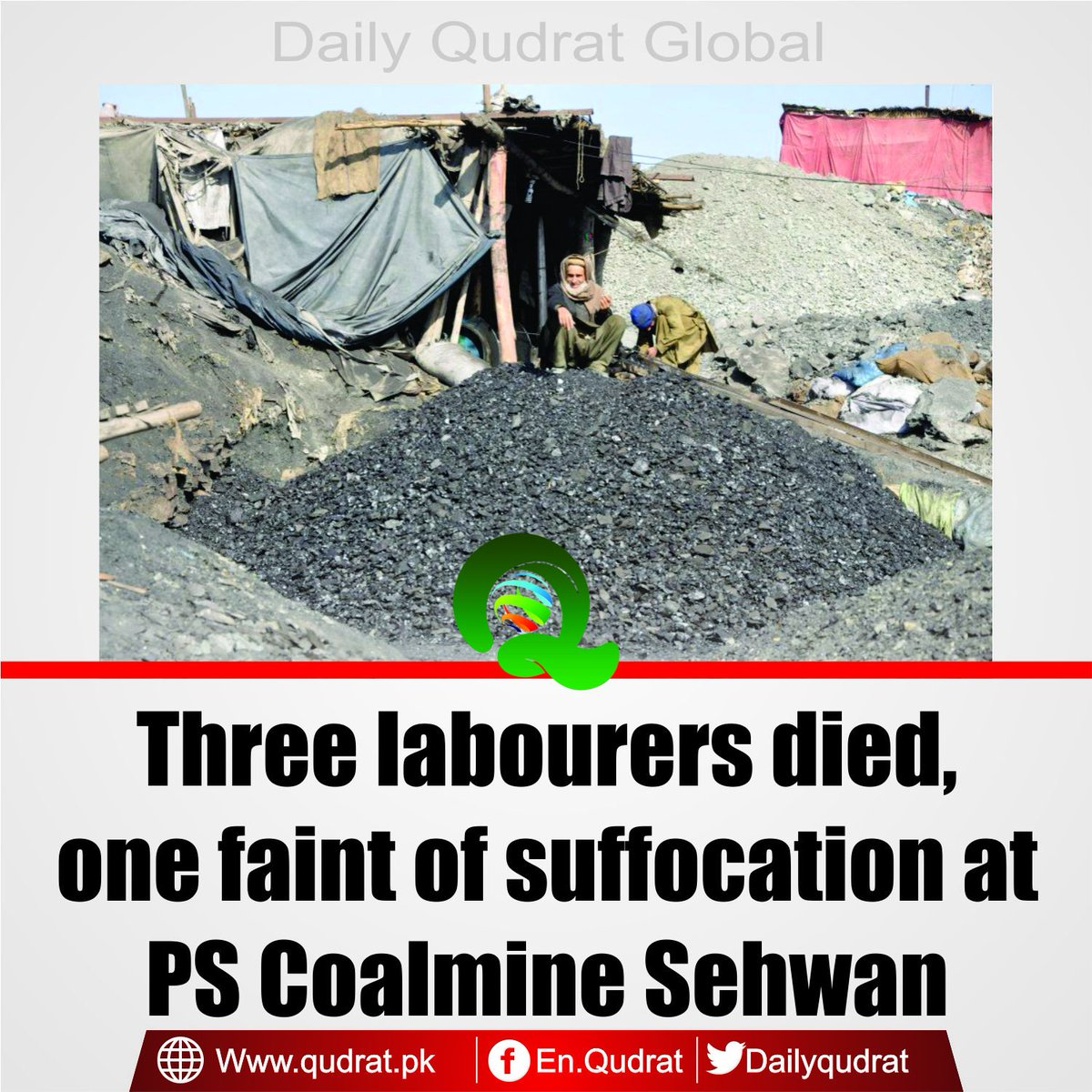 test Twitter Media - Read More:https://t.co/cDng1ou81L  Three #labourers #died, one faint of suffocation at #PS #Coalmine #Sehwan https://t.co/vmX3T6mMig