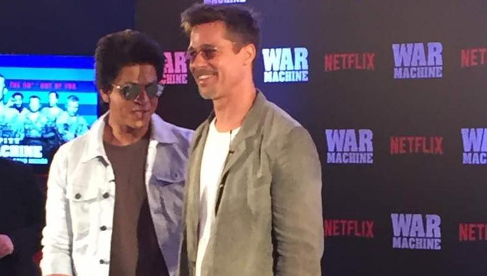 """Brad Pitt sits down with @iamsrk and explains why he would """"never make it in Bollywood"""""""