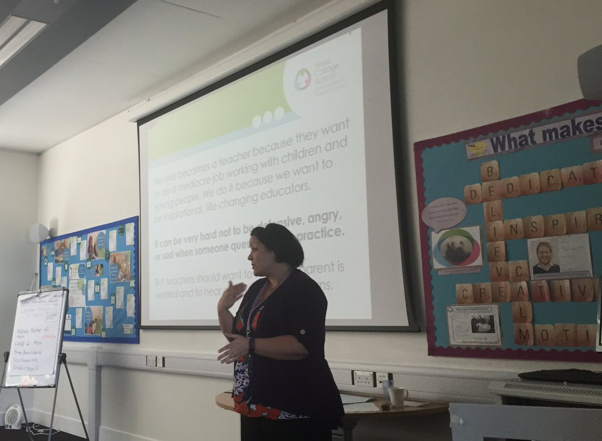 Jacqui @SwissCottageSch leading our @Harris_ITE Primary trainees on effective strategies for liaising with parents. #SEN #ITE<br>http://pic.twitter.com/t6PI5hJq3Y