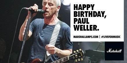 A man who needs no introduction. Happy Birthday to \The Mod Father\ Paul Weller.