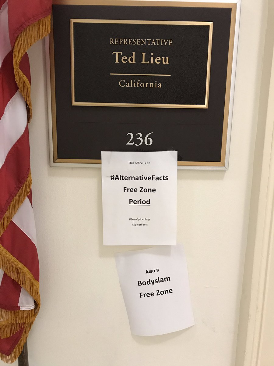 We added a new sign outside the office today. cc: @tedlieu @RepTedLieu #Bodyslam #MTAL