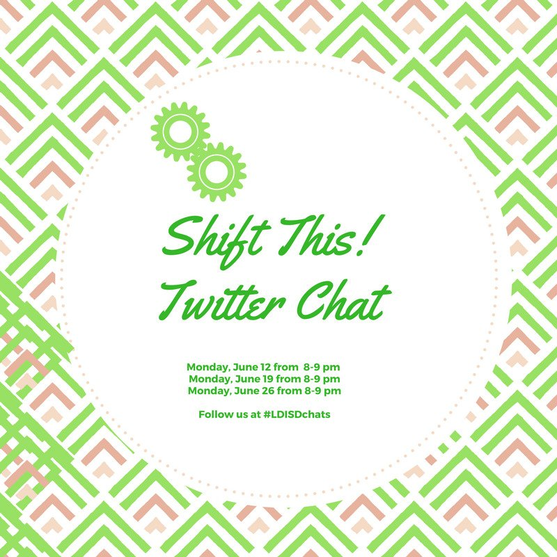 #ShiftThis Twitter Chat at #LDISDchats @JoyKirr @burgessdave @LakeDallasISD @corinthelementa https://t.co/gpNjbm2NZe