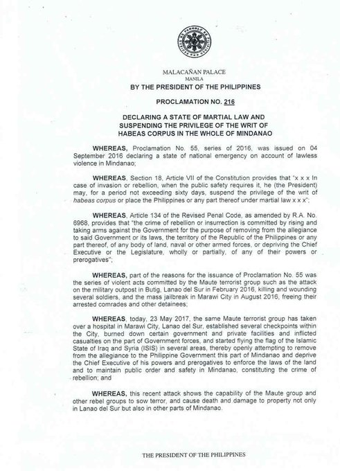 Congress receives Palace report on Mindanao martial law  https://t.co/nUazfStNZR