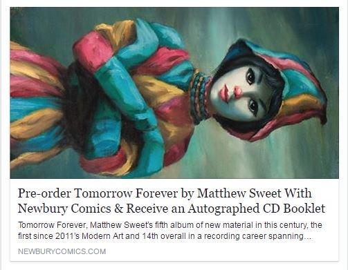 Matthew Sweet On Twitter Pre Order Tomorrow Forever