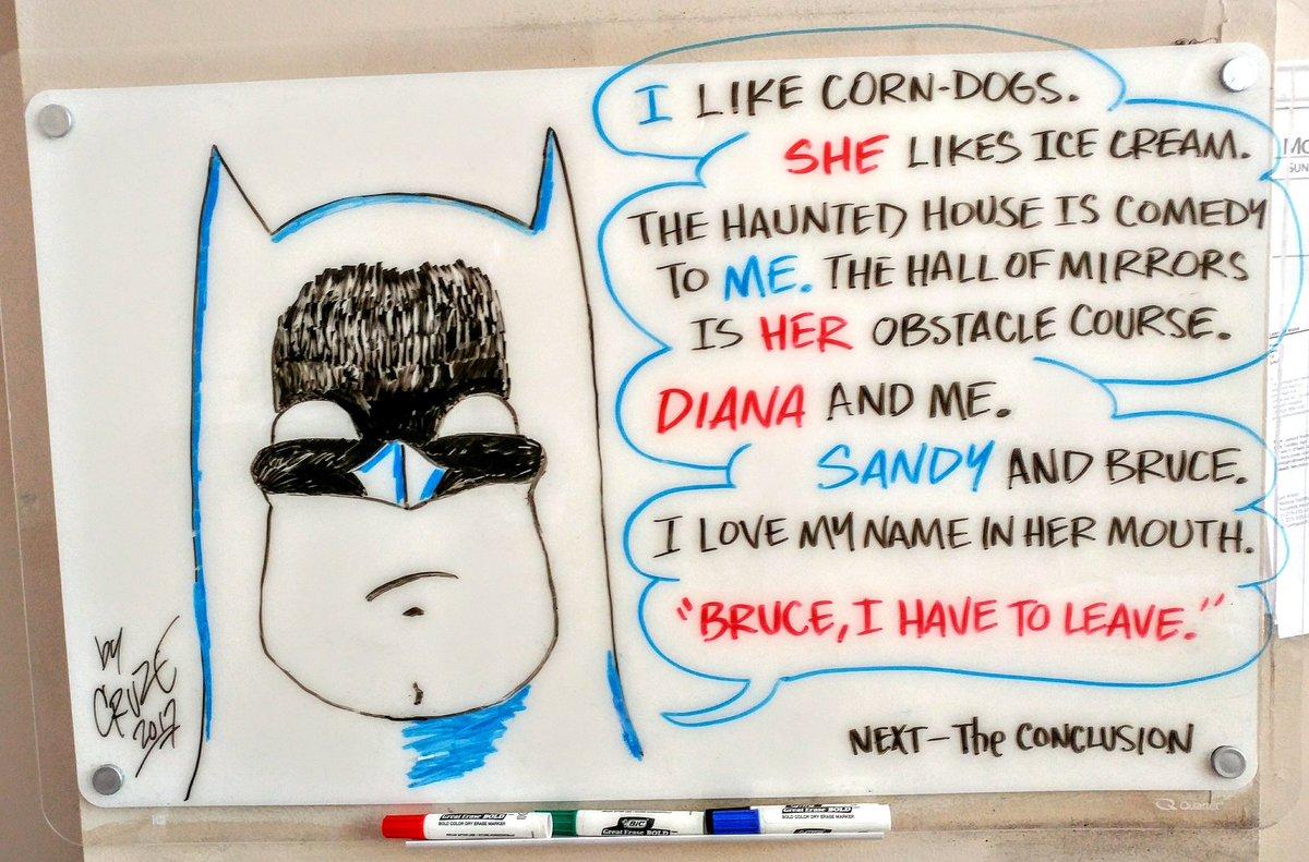 Battribble&#39;s white board #BATMAN #WonderWoman  #romance #dream #beach #wtf #diana #princess<br>http://pic.twitter.com/kttPSX2Cpm