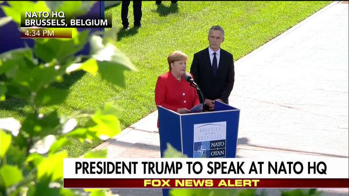 Merkel: 'It is not isolation & the building of walls that make us successful but open societies that share the same values.'