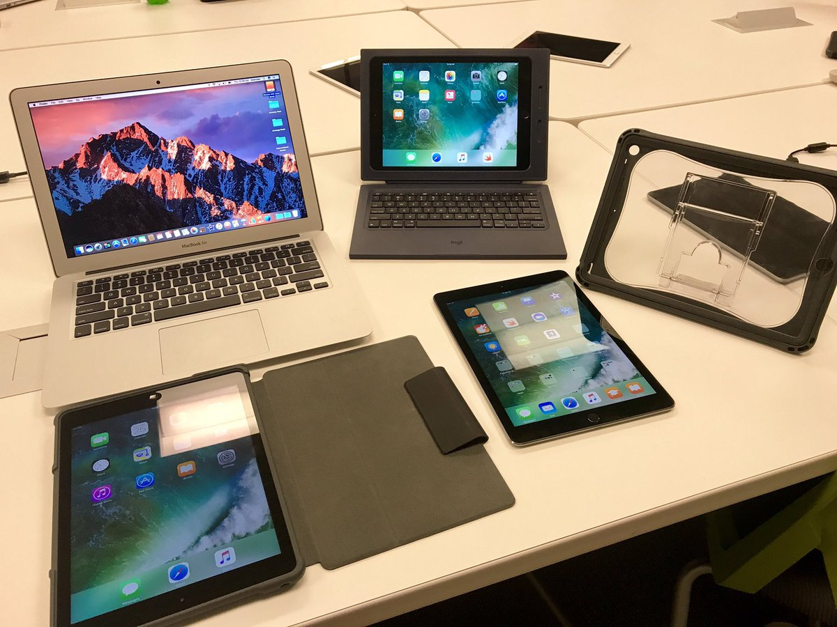 Apple training today preparing for devices at our new fine arts school #apple #macbookair #ipad #edtech #MCSDTech<br>http://pic.twitter.com/WQ74h4frMI