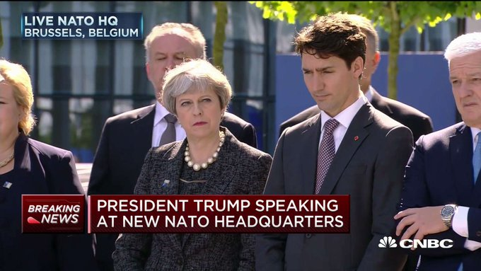 Just look at the reaction of NATO members as Trump said directly to their faces that 23 out of 28 nations aren't contributing enough.