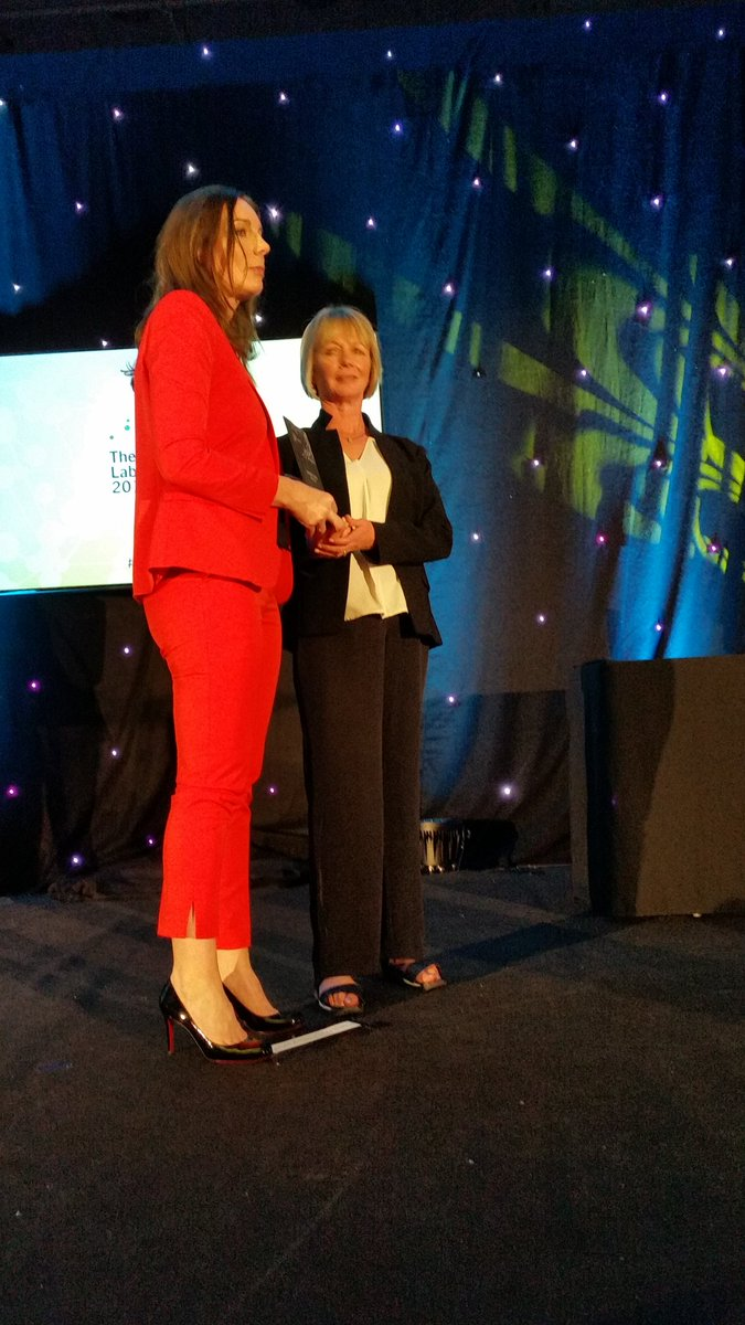 @acslmPresident presenting laboratory scientist of the year Prof Catherine Santon #irishlabawards @WITSIreland<br>http://pic.twitter.com/gQh0Ohd9aP