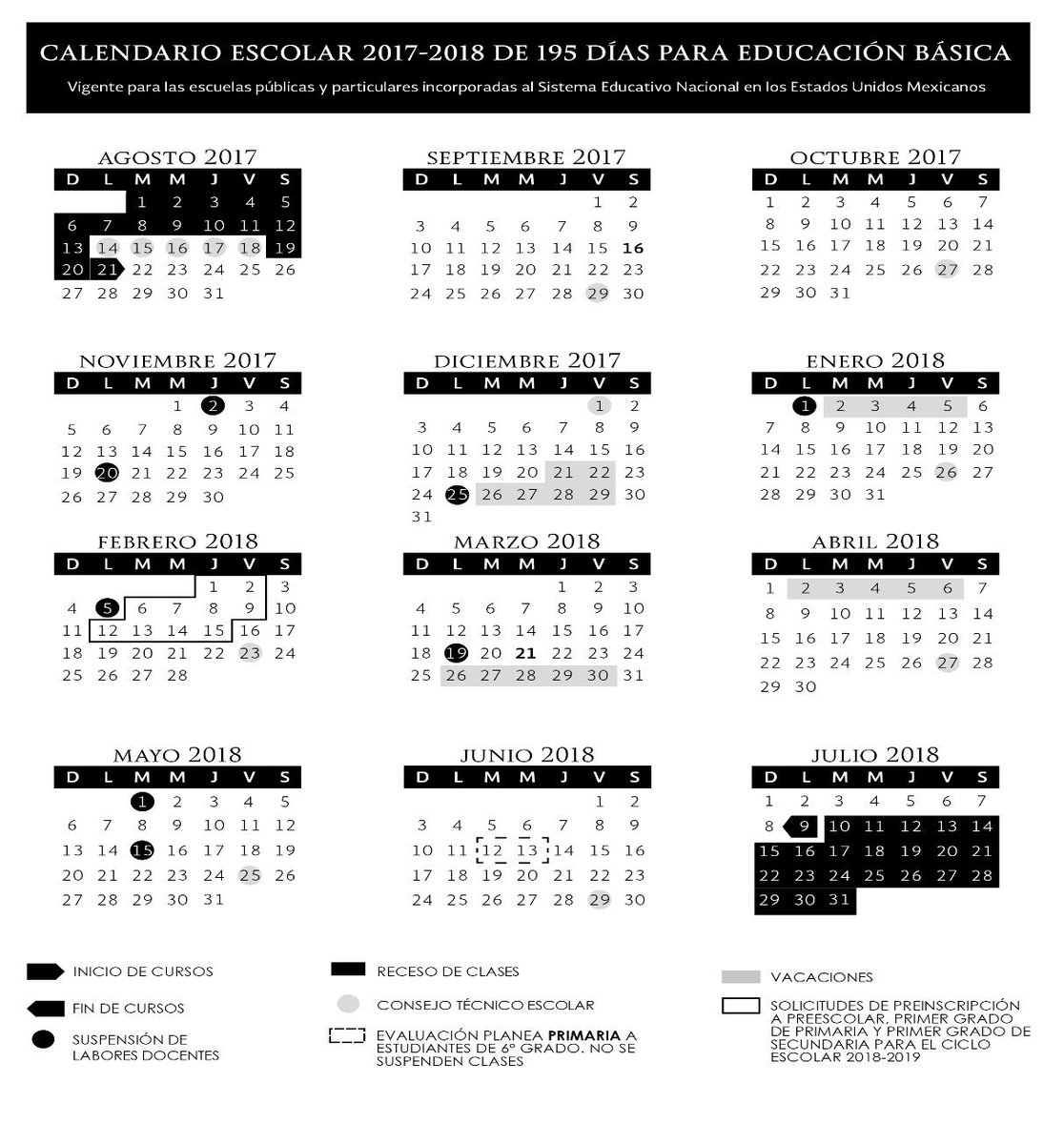 Calendario Mariano.Mariano Osorio On Twitter Calendario Escolar 2017 2018 Sep