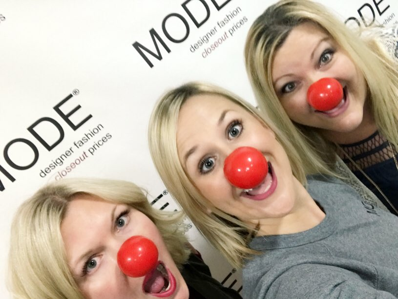 It&#39;s #RedNoseDay and our #MODE team is getting in the spirit! Get your #RedNose @Walgreens and support @RedNoseDayUSA with us! Share your <br>http://pic.twitter.com/BcmEFwf19E