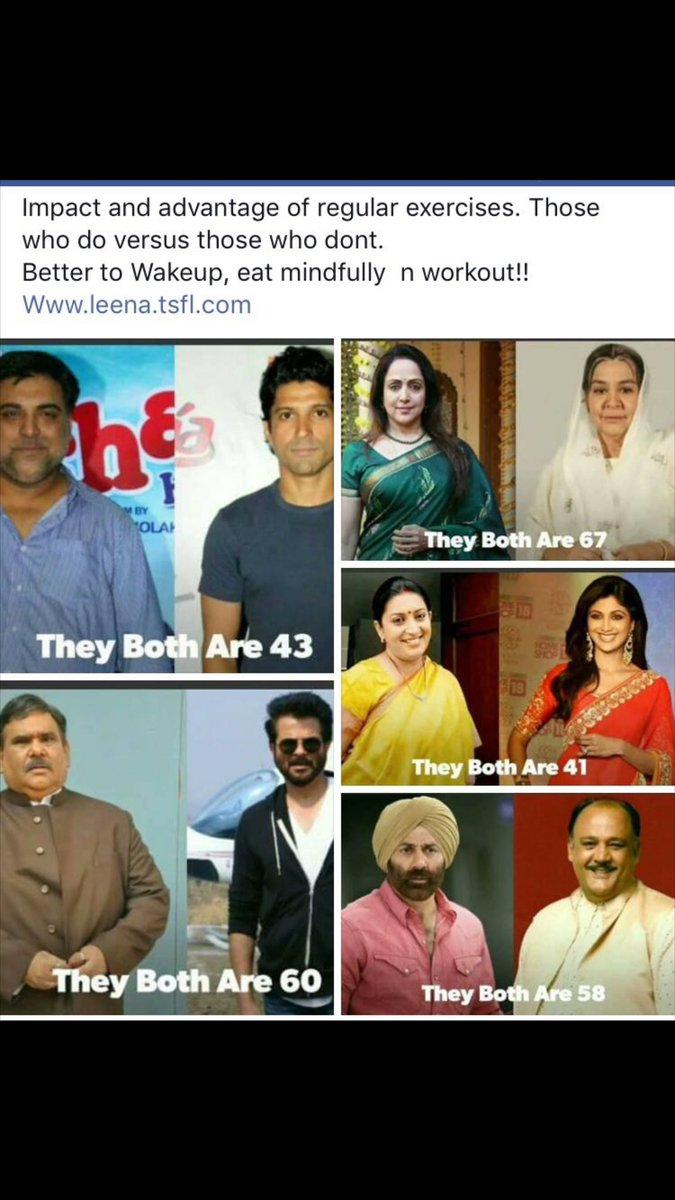 Regular healthy #diet #exercise erases years of us. Compared to 10 yrs back; I&#39;m getting fitter by the day  Being fit is so #addictive  <br>http://pic.twitter.com/ytk11vBIdV