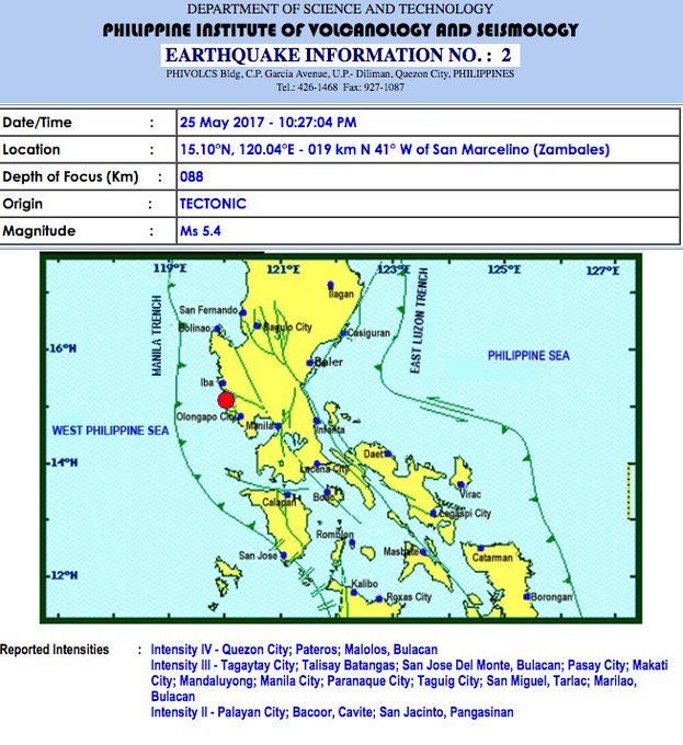 Magnitude 5.4 quake hits Zambales https://t.co/42VYhhH2Py