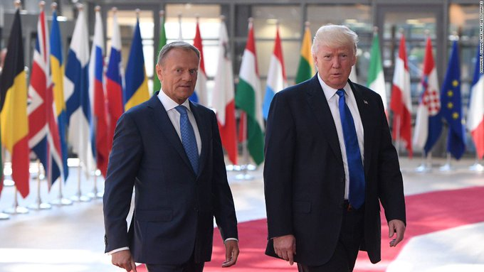 Trump standing just feet away from NATO allies in Brussels, lectures them for not meeting financial commitments https://t.co/8MLXsUHrd9