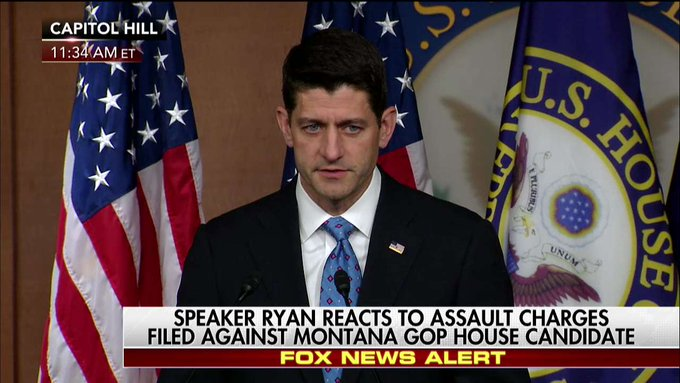 Ryan: 'There's never a call for physical altercations. There's no time where a physical altercation should occur w/ the press or [anyone].'